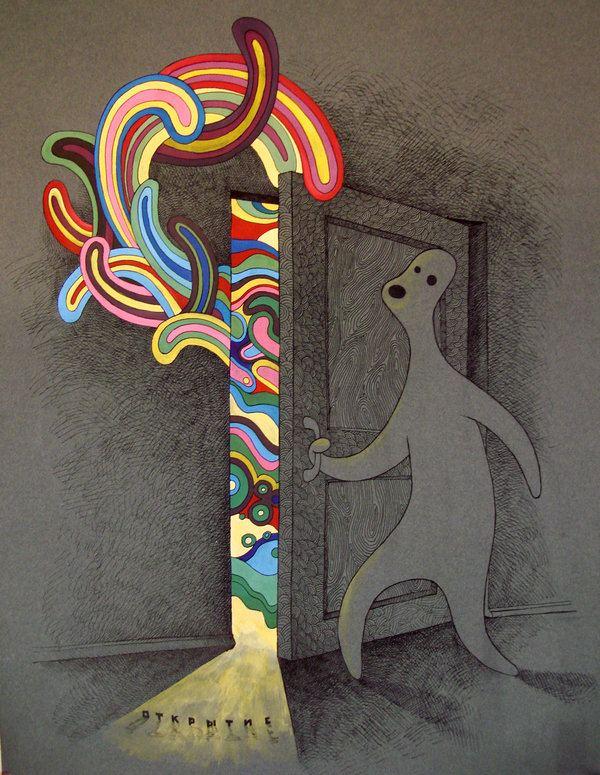 Door Opening Drawing Opening Door by Arzamas