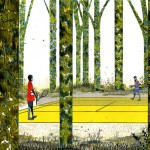 Henry McCausland: Yellow Tennis Court