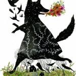 """Black Fox"" Art Print by Diana Sudyka"