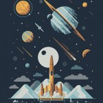 """Explorers Club"" Art Prints by DKNG"
