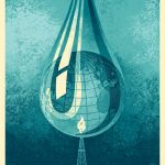 """Earth Crisis Drop"" Art Print by Shepard Fairey"