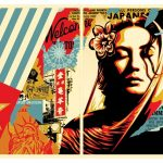 """""""Welcome Visitor"""" Diptych by Shepard Fairey"""