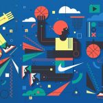 Nike Basketball Wall Mural by Neil Stevens